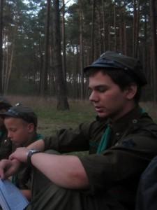 Założyciel drużyny. Serek
